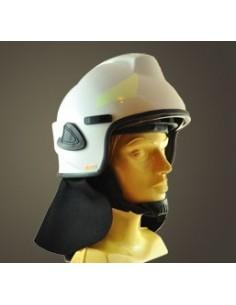 Hełm strażacki BHS (wizjer metalizowany + osłona karku + okulary)