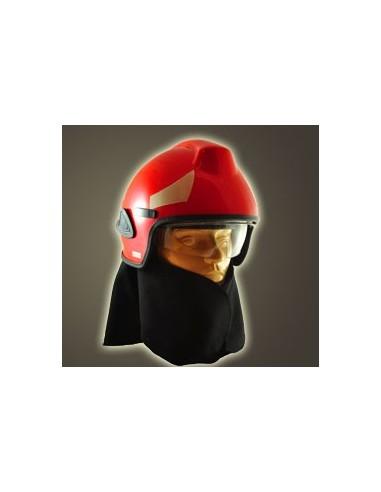 Hełm strażacki BHS (wizjer metalizowany + osłona karku i szyi + okulary)