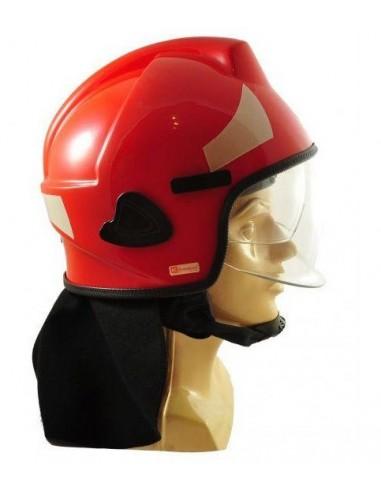 Hełm strażacki BHS (z osłoną karku + okulary)