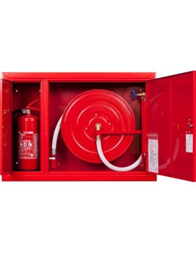 Hydrant wnękowy FI25 z miejscem na gaśnicę, prawy