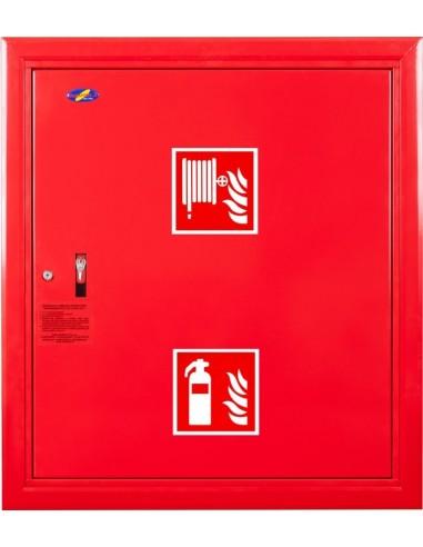 Hydrant wnękowy FI25 z msc. na gaśnicę - wersja wertykalna, prawy