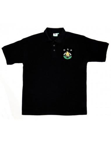 Koszulka POLO OSP hełm z toporkiem i lirką