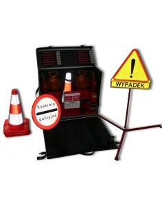 Zestaw walizkowy do oznakowania miejsc wypadków