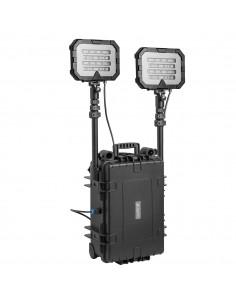 Przenośny system oświetleniowy z dwiema głowicami 50 Ah, Floodlight Twin 36000 lm