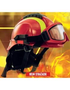 Hełm Tytan typ HOT - dla ratowników, z goglami i kołnierzem