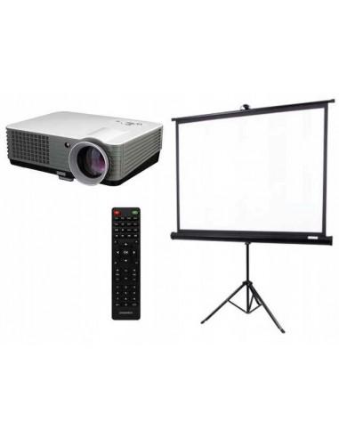 RZUTNIK PROJEKTOR OVERMAX MULTIPIC 3.1 + EKRAN HD