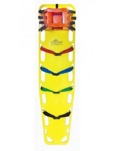 """Deska ortopedyczna Iron Duck Ultra-Vue 16"""" z kpl. 4 pasów i stabilizacją głowy"""