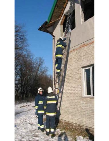 Drabina ratownicza FIRE TEC 2x18 S CNBOP dwuprzęsłowa