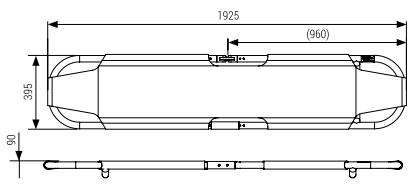 Nosze aluminiowe składane - poliestrowe DX040