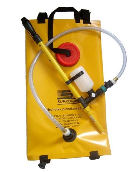 Hydronetka plecakowa HPE-19L ze zbiornikiem elastycznym 19l do gaszenia niewielkiego pożaru