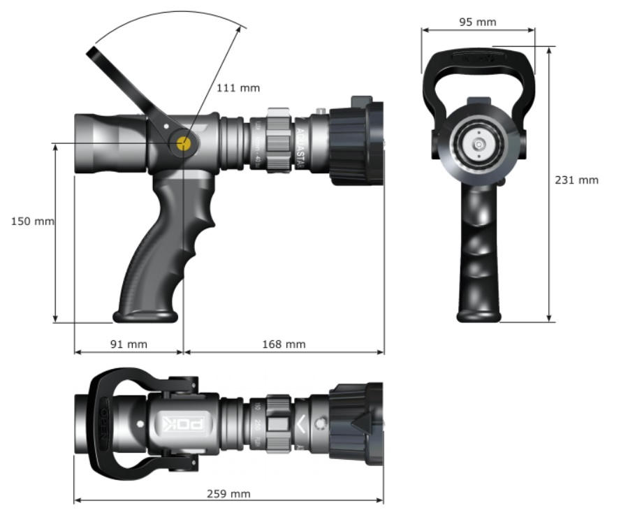 Prądownica wysokociśnieniowa AQUASTAR 250