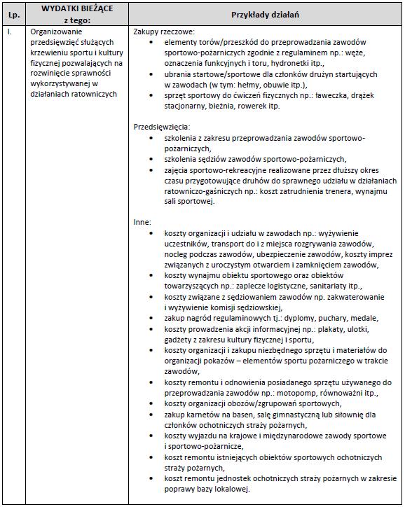 Propozycje działań w zakresie wydatkowania środków dla OSP - Program 5000+ dla OSP