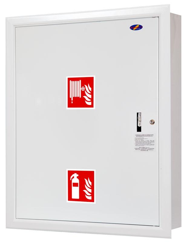 Hydrant wewnętrzny fit 25 z miejscem na gaśnicę wnękowy zawieszany